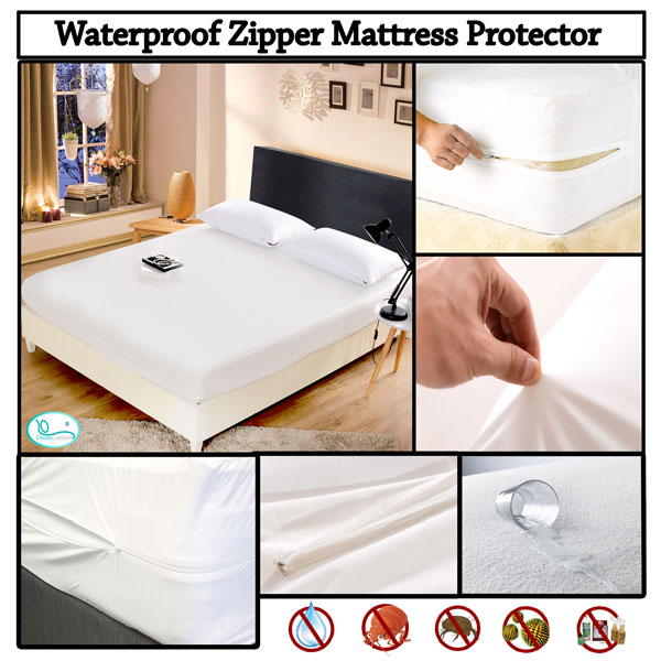 milliard hypoallergenic bed encasements pin bug proof mattress encasement premium queen