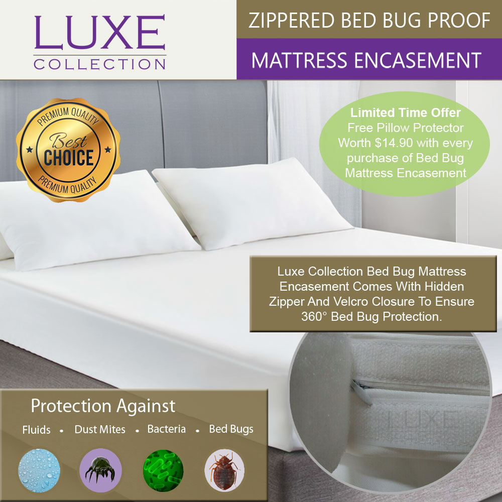 100/% Bed Bug Proof Hotel Collection Zippered Mattress Protector