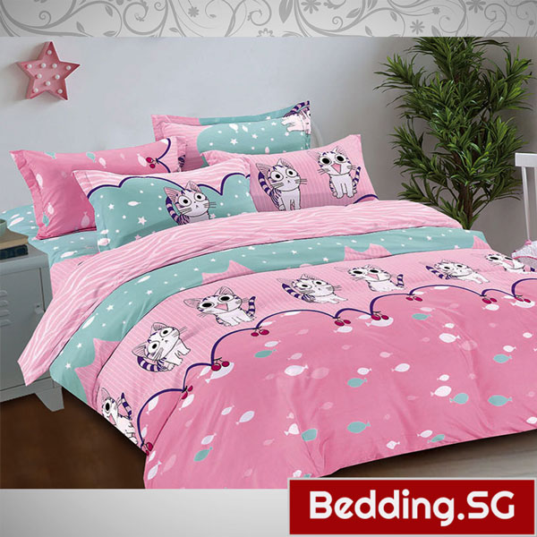 Cute Bedsheets Cartoon Cute Cats Design Fitted