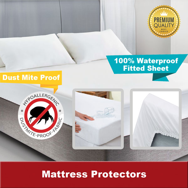 Bedding SG -  Waterproof Fitted Sheet